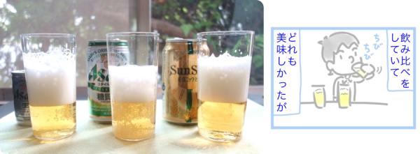 サンサンオーガニックビール(有機酒)のマンガ