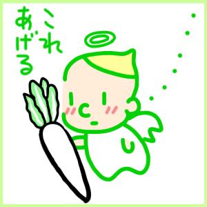 【栄養満点♪大根の葉っぱでカルシウムGET!の巻】 オーガニック天使メメちゃん 第1話