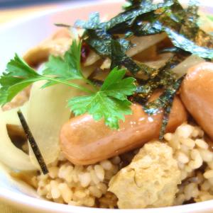 【畑の肉丼】で大豆タンパク&小麦タンパクGET!リンケッツとグルテンミートを使ったレシピ。