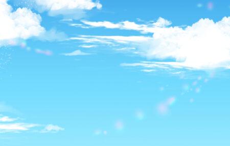 きれいな空の素材と出会ったり【ふつうの日記】