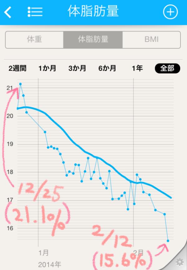 体脂肪グラフ