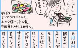健康日記8/31「京野菜をひたすら塩麹漬け」