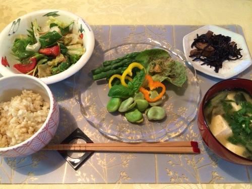 野菜の晩ご飯
