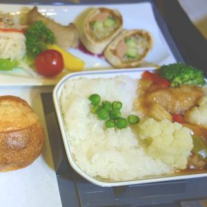 JALのビジネスクラスのベジタリアン特別機内食