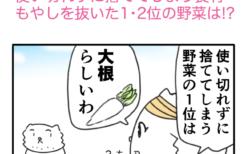 【でいりーNEWS4コマ】使い切れずに捨ててしまう食材…もやしを抜いた1・2位の野菜は!?