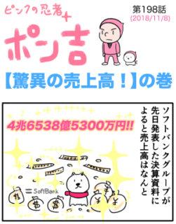ピンクの忍者ポン吉 第198話【驚異の売上高!】の巻