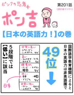 ピンクの忍者ポン吉 第201話【日本の英語力!】の巻