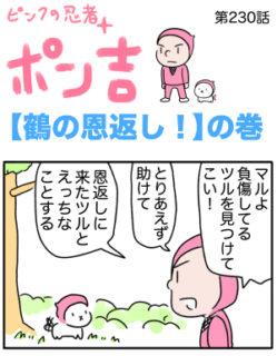 ピンクの忍者ポン吉 第230話【鶴の恩返し!】の巻