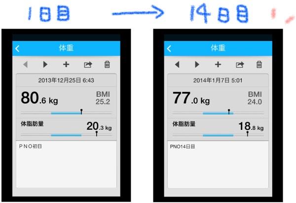 体重データ