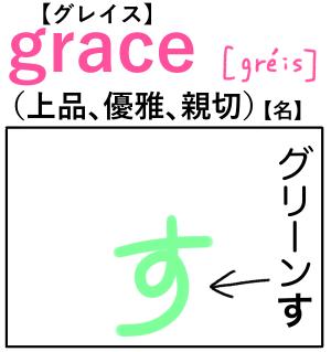 grace(上品) 英単語のゴロ合わせ4コマ漫画 Lesson.209