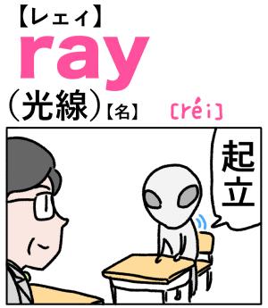 ray(光線) 英単語のゴロ合わせ4コマ漫画 Lesson.247