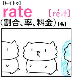 rate(割合) 英単語のゴロ合わせ4コマ漫画 Lesson.202