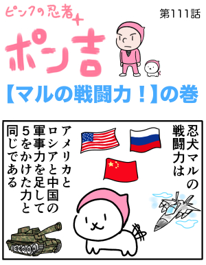 ピンクの忍者ポン吉 第111話【マルの戦闘力!】の巻