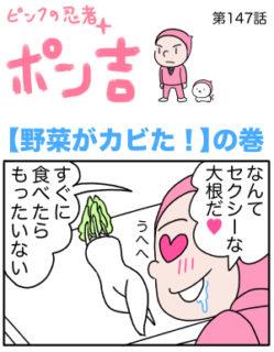 ピンクの忍者ポン吉 第147話【野菜がカビた!】の巻