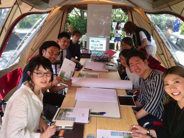 キャンピングオフィス@渋谷に参加したり