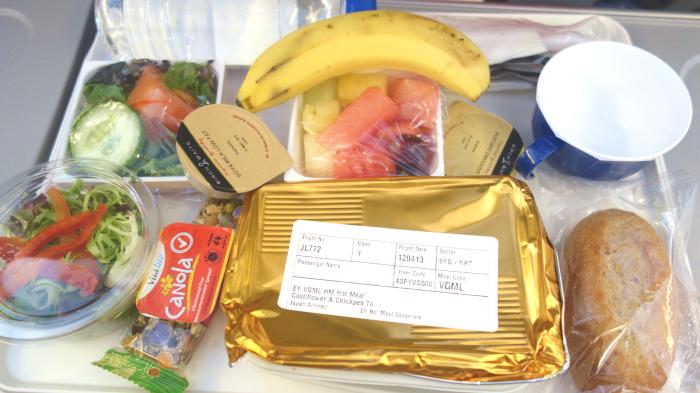 飛行機の特別機内食