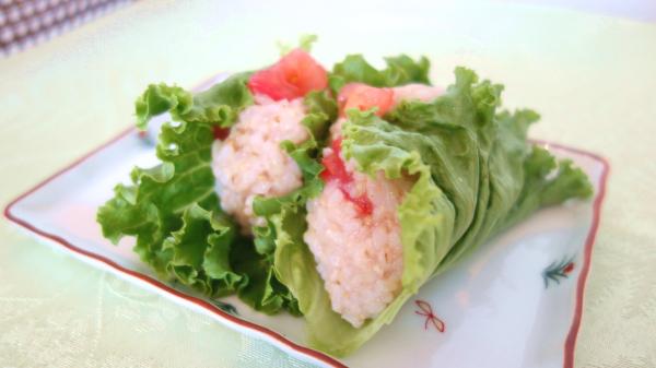 有機サラダ(トマト&レタス)の作り方