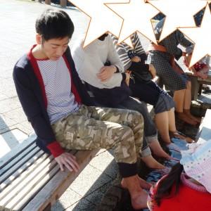 伊豆長岡【ホテル天坊】で有機野菜バイキングのランチ。近くに無料足湯公園も!