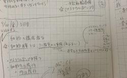 栄養士学校の時のノートを再利用【ふつうの日記】
