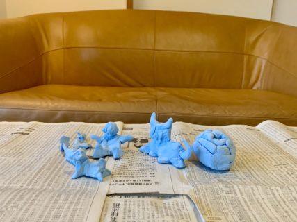 粘土で哺乳類を作ったり【ふつうの日記】