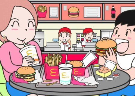 ハンバーガー屋さんの間違い探しを描いたり【ふつうの日記】