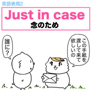 英語表現2 Just in case(念のため)