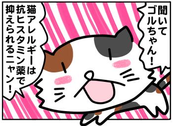 ごるちゃん49話【猫アレルギー対策に抗ヒスタミン!】の巻
